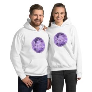 FAITH Purple Mandala White Unisex Hoodie