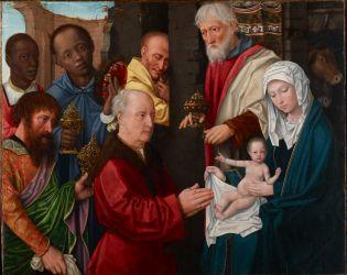 magi david adoration workshop museum gerard renaissance africa 1514 panel oil wood europe african princeton university collection kings presence revealing
