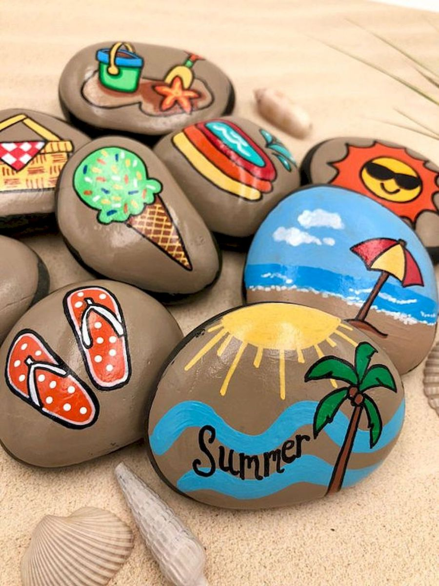 50 Easy DIY Painted Rocks Ideas Perfect For Beginners (44)