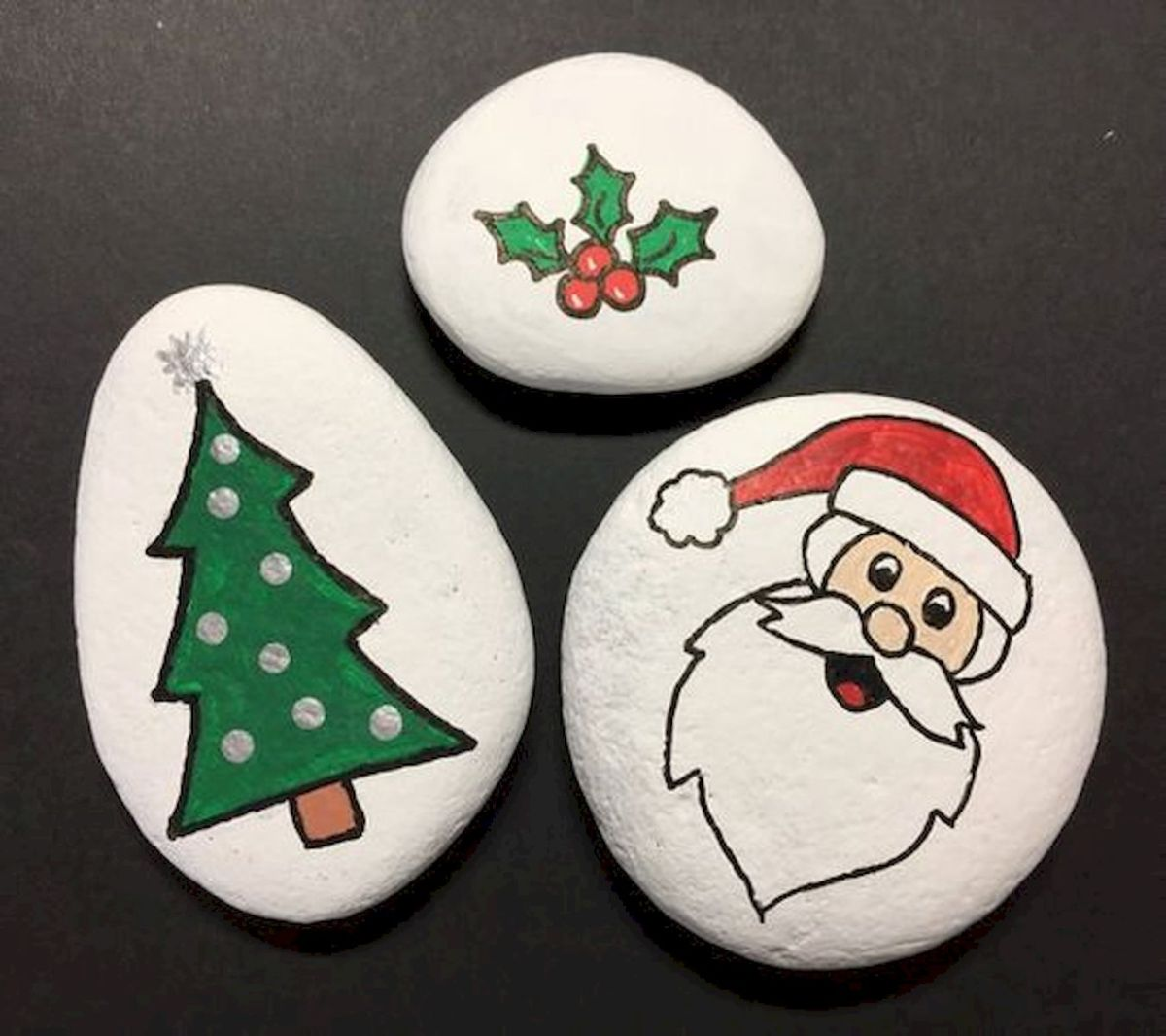 Christmas Rock Painting Designs.60 Fantastic Rock Painting Ideas For Kids 15 Artmyideas