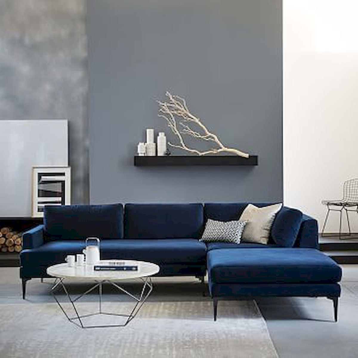 60 Living Room Decor Ideas With Artwork Coffee Tables (43)