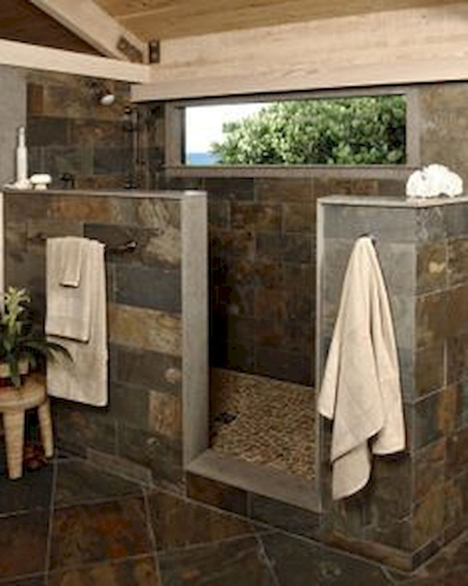 46 Fantastic Walk In Shower No Door for Bathroom Ideas (28)