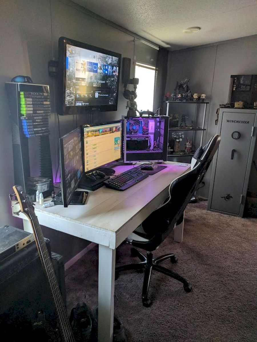 60 Magical DIY Computer Desk Gaming Design Ideas and Decor (8)