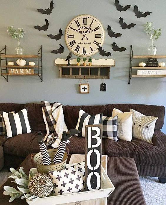 73 Gorgeous Halloween Living Room Decor Ideas (57)
