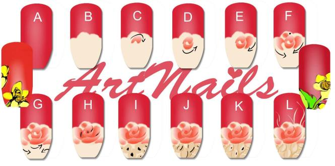 How To Paint Nail Art Roses Best 2017