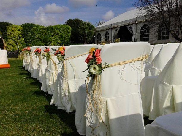 flores silla ceremonia
