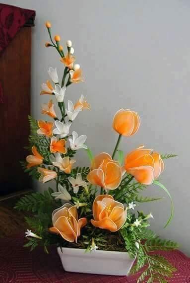 DIY Handmade Beautiful Nylon Flower  Art  Craft Ideas
