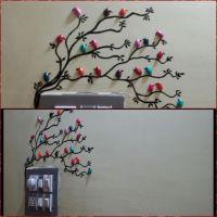 Handmade pista shell bird for wall decoration - Art ...