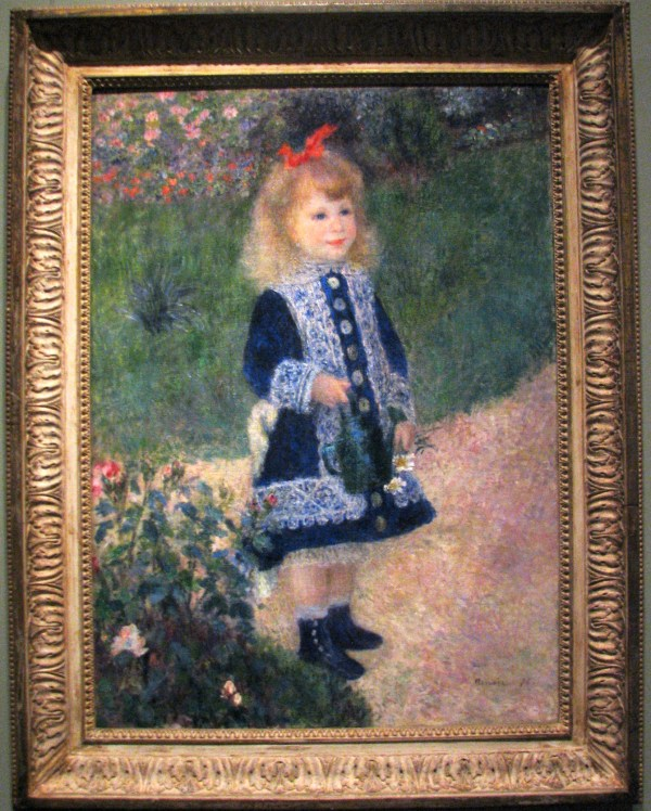 Girl with a Watering Can Renoir Painting