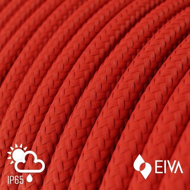 Kültéri piros műselyem textilkábel IP65 védettség – EIVA SM09