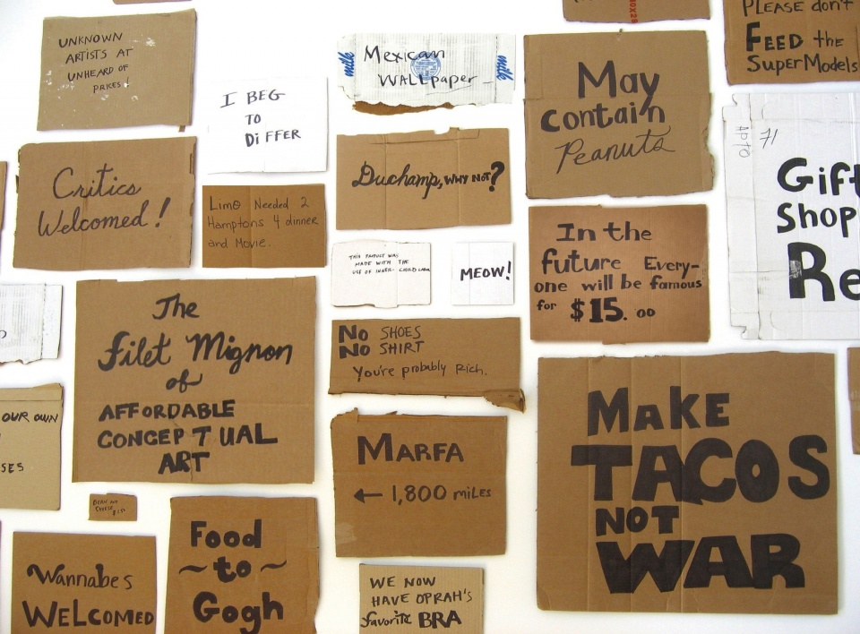 Image result for cardboard signs