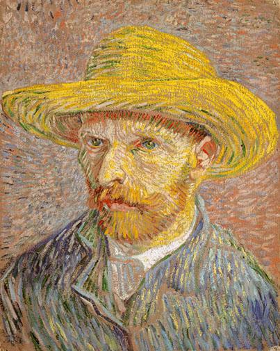 Винсент Ван Гог. Автопортрет в соломенной шляпе. 1887 г.