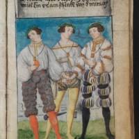 Летняя коллекция. Ученые так и не разгадали, почему икра юноши слева пробита гвоздем, а два других юноши указывают на оранжевый плод в руке страдальца