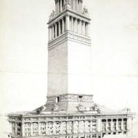 Башня над универмагом «Селфриджес», Оксфорд-стрит Проект башни был предложен архитектором Филипом Тилденом в 1918 году, при этом её назначение до сих пор остаётся загадкой. Возможно, она должна была утишить амбиции Гордона Селфриджа.