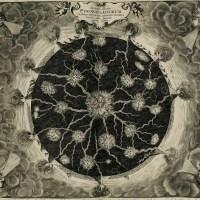Изображение «огненных каналов» (вулканической системы) подземного мира, 17 век