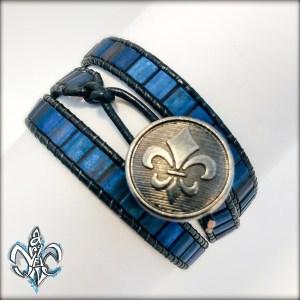 Wrap Bracelet Blue Violet