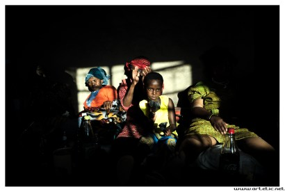 An instant photography during a Sotho women celebration