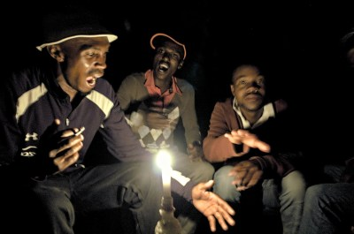 As there is no electricity in Pontseng, the people sing their own songs to the end of the night!