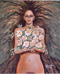 Blessing (Acrylic on canvas, 70Χ60 cm)