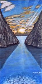 Hourglass (Acrylic on canvas, 60X30 cm)