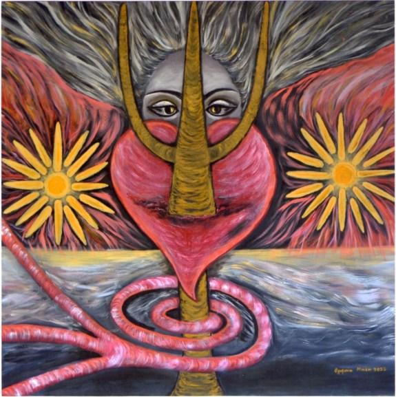 Mind-Power- Domination (Acrylic on canvas, 100X100 cm)