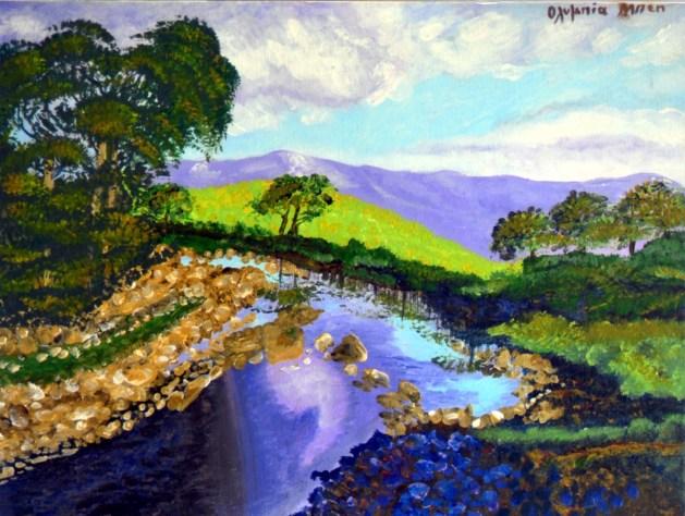 Landscape (Acrylic on canvas, 30X40 cm)