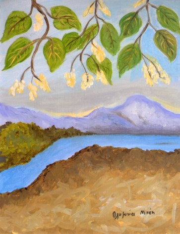 Landscape (Acrylic on canvas, 40X30 cm)
