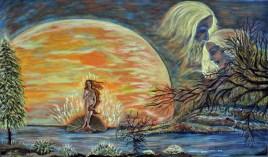 Heavenly Muse (Acrylic on canvas, 100Χ170cm )