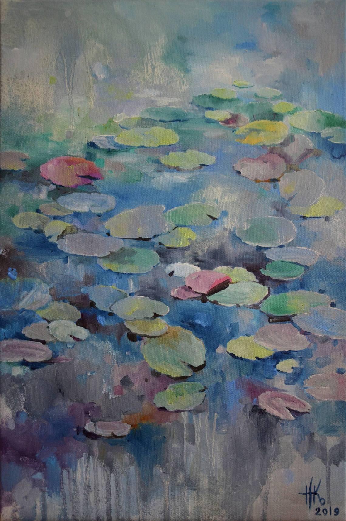 Lily pond. Falling asleep