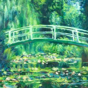 Claude Monet White Water Lilies by Mishyra Vladimir
