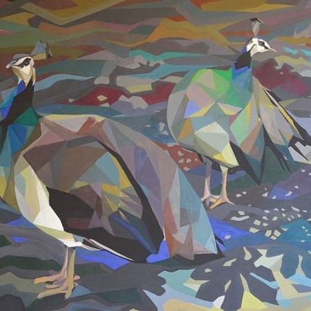 Original Animal Painting by Aleksandar Lukic   Modern Art on Paper   Afternon