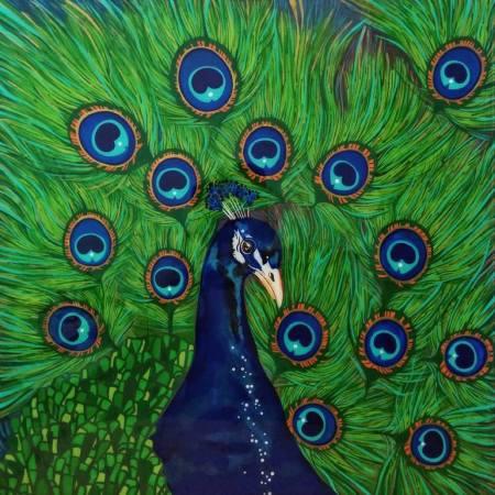 Original Animal Painting by Isabella Enriquez | Figurative Art on Wood | Glorious confidence