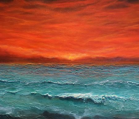 Original Seascape Painting by Tamara Bettencourt | Impressionism Art on Canvas | Tuscan Skies