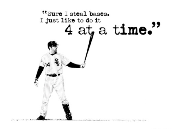 "Hitting Homeruns quote from a ""Big Guy"""