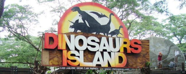 Clarkland Dinosaurs Island in Clark Pampanga