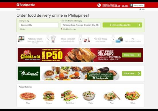 Food delivery Philippines Order food online foodpanda online food delivery art of being a mom