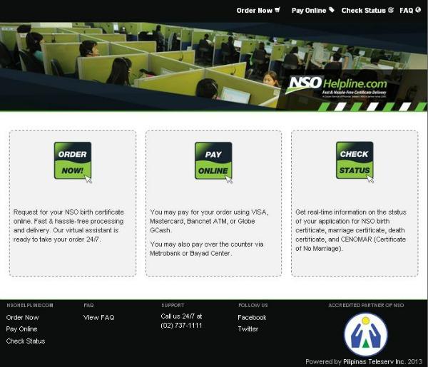 NSOHelpline.com Homepage rs