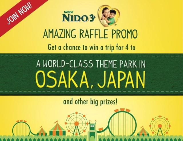 Win a Family Trip to Osaka, Japan with NIDO 3+ Amazing Raffle Promo