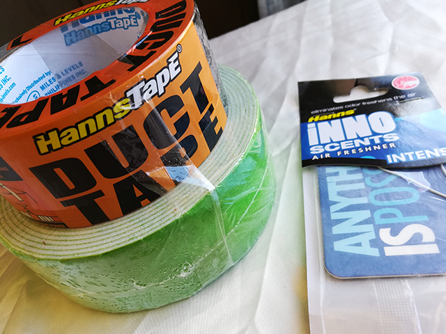 Household Supplies: Hanns Tape and Inno Scents Air Freshners