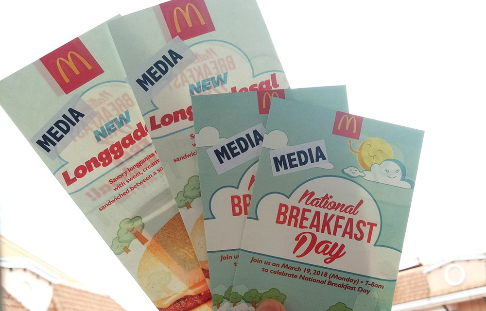 Hooray for National Breakfast Day at McDonalds!