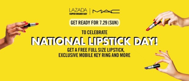 Lazada Launches First Super Brand Day with M·A·C: National Lipstick Day on July 29