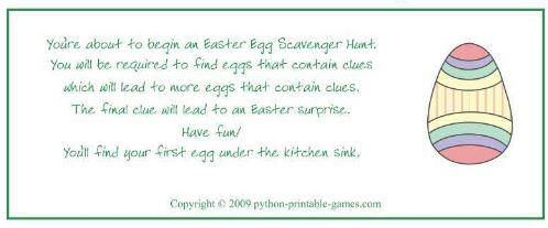 photo relating to Printable Easter Games known as Entertaining Loved ones Easter Game titles Printables
