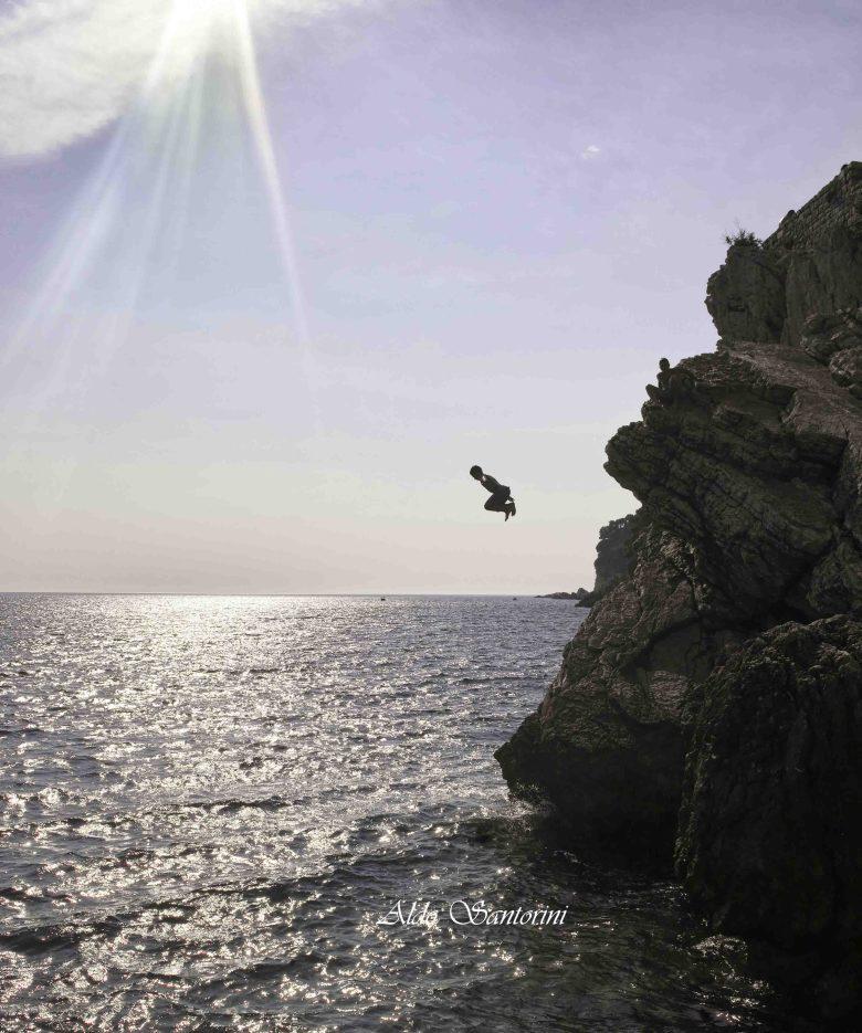 Cliff diving in Montenegro