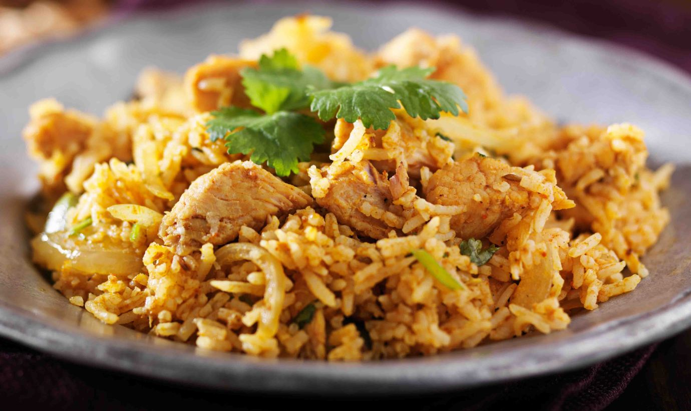 indian chicken biryani dish