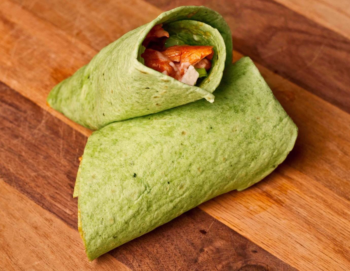 Tofu spinach shawarma