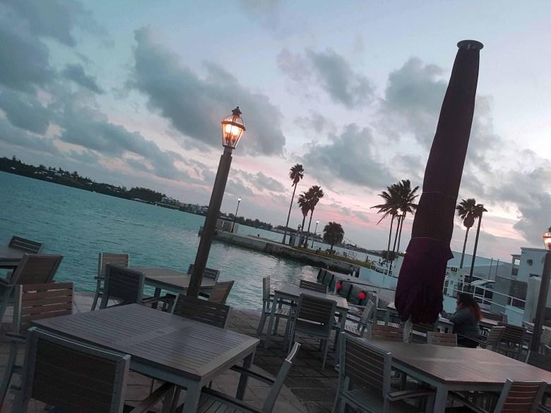 St Georges, Bermuda Outdoor Restaurant Evening