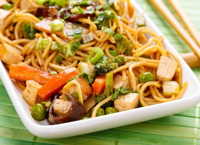 Guyanese-Style Chow Mein with Tofu