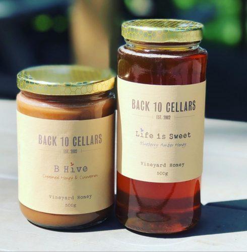 Blueberry honey jars