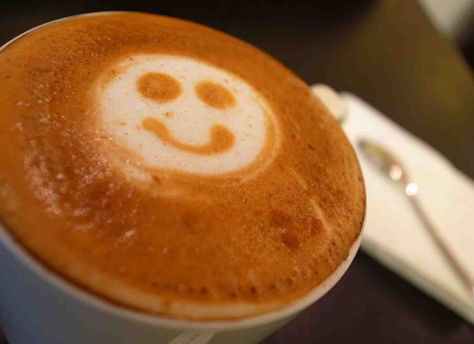 Smiley Face Coffee Art
