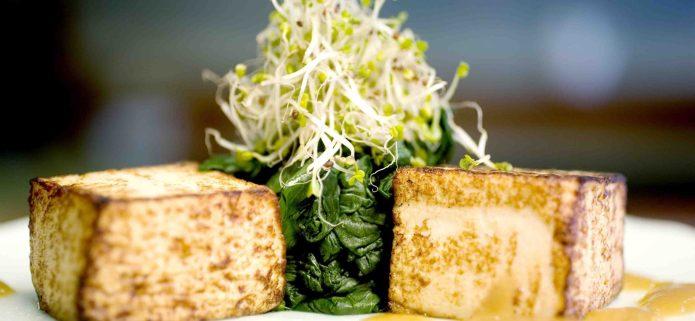 Maple spinach and tofu gluten-free and vegan recipe
